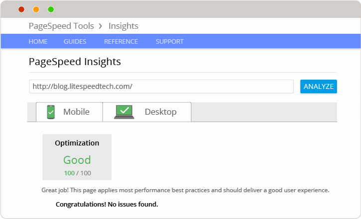 PageSpeedのスコアを高めることが可能